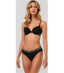 calvin klein coordinate bomullstrosor i bikinimodell - black
