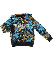 kenzo jumping tiger logo hoodie