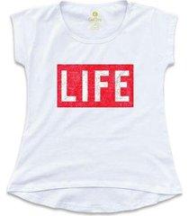 camiseta feminina t-shirt cool tees revista life magazine - feminino