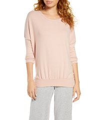 women's eberjey 'cozy time' slouchy long sleeve tee