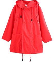chaqueta impermeable rojo nicopoly