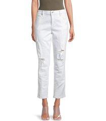 joe's jeans women's distressed slim boyfriend jeans - langford - size 28 (4-6)