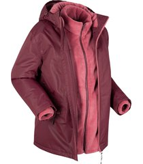 giacca funzionale 3 in 1 con giacca in pile (rosso) - bpc bonprix collection
