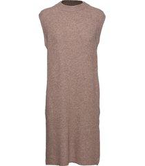 elisha long knit jurk knielengte beige norr