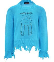 riccardo comi light blue happy day sweater for kids