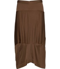 noella knälång kjol brun rabens sal r