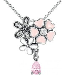 collar floricion petica casual rosa arany joyas