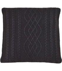 capa almofada tricot 45x45cm c/zãper sofa trico cod 1026 caf㉠- marrom - feminino - dafiti