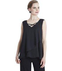 blusa aplicación espalda negro lorenzo di pontti