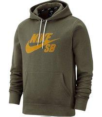 abrigo de hombre m nike sb icon hoodie po essnl-verde