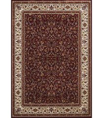 "asbury looms antiquities isphahan 1900 01439 58 burgundy 5'3"" x 7'2"" area rug"