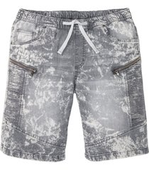 bermuda di jeans con elastico regular fit (grigio) - rainbow