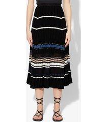 proenza schouler striped rib knit skirt black/bluestone s