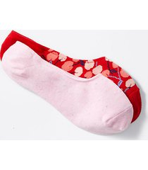 loft cherry & flecked no show sock set