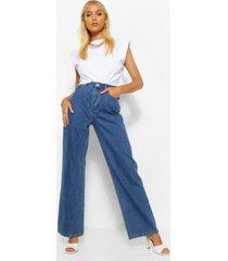 denim basic jeans met wijde pijpen, middenblauw