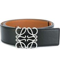 leather anagram belt