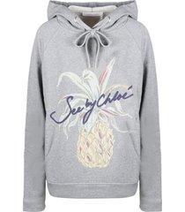 see by chloé pineapple print hoodie