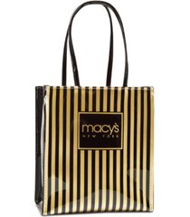macy's thin striped tote, created for macy's