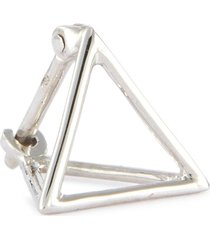 'triangle' 18k white gold pyramid single earring - 10mm