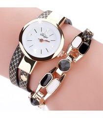 orologio da donna con cinturino in pelle di quarzo con cinturino in pelle di bohemian