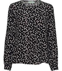 ines printed blouse blouse lange mouwen zwart morris lady