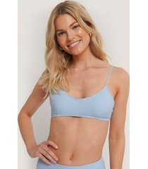 na-kd swimwear clean cut bikini bra - blue