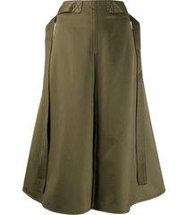 marni belted midi skirt - green