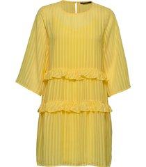 ellora kristelle dress bz kort klänning gul bruuns bazaar