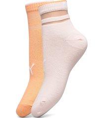 puma short sock structure 2p women lingerie hosiery socks rosa puma
