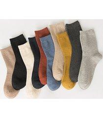 10 pairs cotton solid quarter socks set