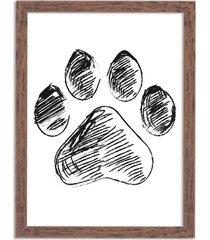quadro decorativo amor por patas madeira - médio
