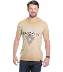 camiseta javali bege brooklyn