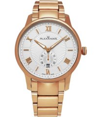 alexander watch a102b-04, stainless steel rose gold tone case on stainless steel rose gold tone bracelet