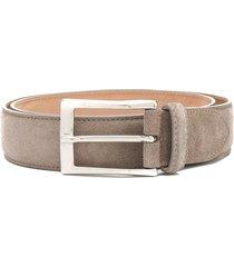 scarosso classic square buckle belt - grey