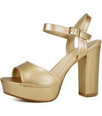 sandalia dorado eda manzini