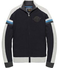 pme legend pkc201351 5287 zip jacket cotton knit dark sapphire blauw