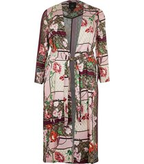 river island womens plus pink scarf print duster jacket