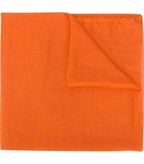 faliero sarti lightweight cashmere scarf - orange