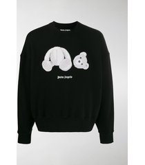 palm angels bear-patch sweatshirt