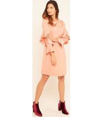 vestido corto  con bolero tono rosa rosa 8