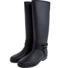 botas de lluvia impermeable golden buckle bottplie - negro