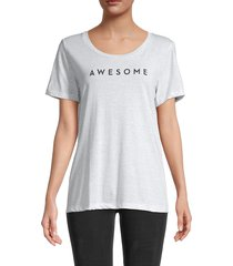 milly women's heathered awesome t-shirt - heather grey - size s