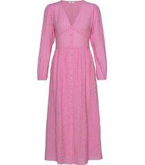 enten ls dress 6717 jurk knielengte roze envii