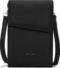 matt & nat met vegan crossbody wallet purity, black