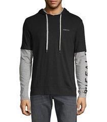 norvan twofer cotton hoodie