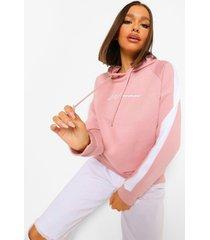 oversized hoodiemet print voor dames, naturel