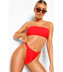 essentials string bikini met brede taille band, rood
