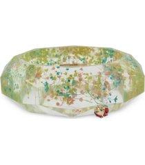 betsey johnson gold-tone pave ladybug floral statement bangle bracelet
