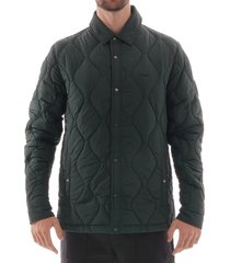 lacoste lightweight collapsible snap quilted jacket - green bh8416