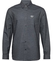 brushed oxford shirt skjorta casual svart fred perry